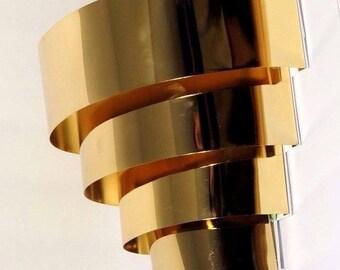 Vintage Modernist Brass Wall Light Fixture Lamp