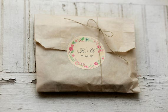 Biodegradable Kraft Wax Pastry Style Bags-6.5 x 1 x 8- Set of 30- Grease resistant, Photo packaging, Sandwich Bags |Wedding Favor Bags