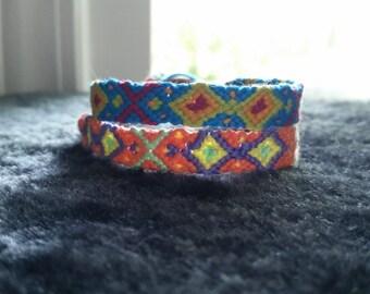 Square friendship bracelet