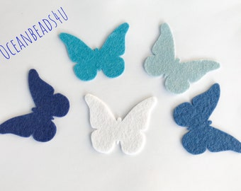 Felt Butterflies,Felt Die Cut Shapes, Butterfly Applique for sewing and craft, felt Party Supply, DIY Wedding, Party decoration