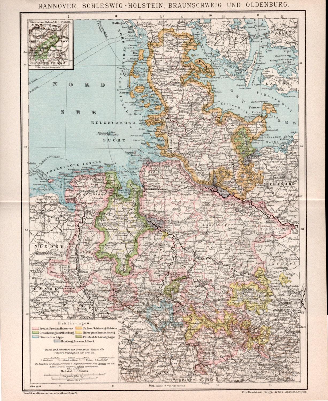 1898 Hannover SchleswigHolstein Braunschweig and Oldenburg