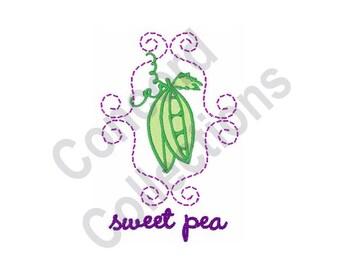 Pea Pods - Machine Embroidery Design, Sweet Pea