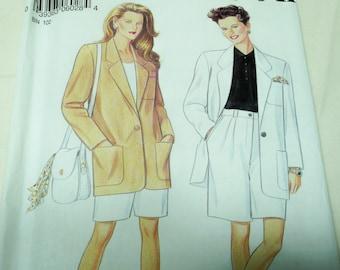 New Look Pattern 6028, Bermuda Shorts, Jacket, 8 -18