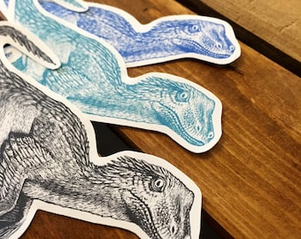 Dinosaur Stickers - Velociraptor Stickers - Raptor Stickers - Science Stickers - Hipster Stickers - Geeky Stickers - Dinosaur Gift - Die Cut