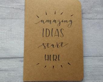Kraft 'Amazing Ideas' Ruled Notebook