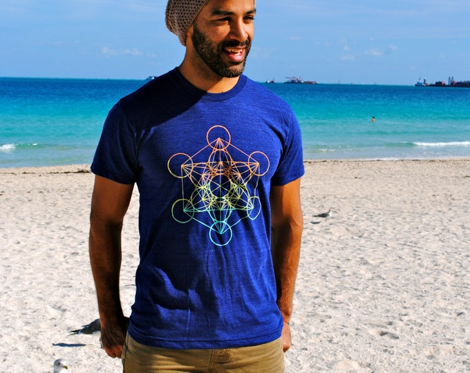 METATRON's CUBE Sunset Ombre Tri-Blend Tee