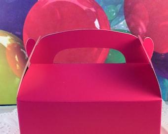 Gable treat box Hot Pink Qty 6