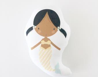 Mermaid, Mermaid Pillow, Kids Pillow, Girl Gift, Gift for Girl, Plush Mermaid, Stuffed Mermaid, Ava, Mermaid Cushion, Baby Girl Gift, Gift