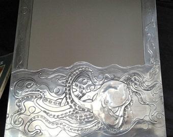 Octopus bathroom mirror