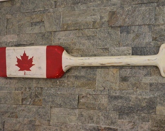 Canadian Flag Paddle, Canada Flag, Rustic Canadian Flag Paddle, Cottage Decor, Country Decor, Canadian Boater, Wooden Paddle Hand Crafted