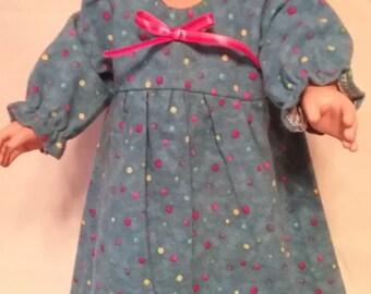 blue polka dot nightgown
