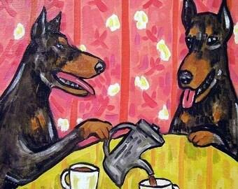 25% off Doberman Pinscher Tea Tine Dog Art Tile