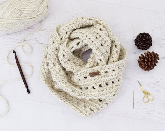 Infinity Scarf PATTERN - Autumn Infinity Scarf - chunky scarf accessories winter scarves circle scarf accessories