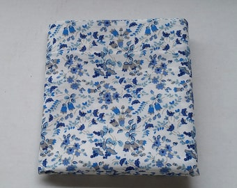 Pillowcase Item # 4 ... blue/gray floral