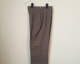 "25% off - brown high waisted vintage boyfriend trousers brown minimalist pants - 25"" waist"