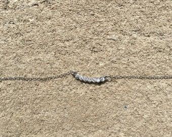 Layered necklace, CZ Neclace, Delicate Necklace, Diamond Necklace, Choker Necklace