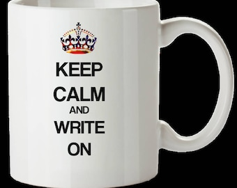 Keep Calm and Write On mug