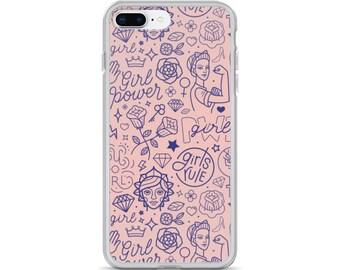 iPhone Case - Girl Power - iPhone X, 7, 8, 7plus, 8plus, 6, 6s, 6 plus, 6s plus