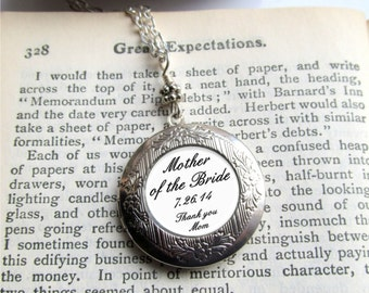 Photo Locket, Mother Of The Bride Necklace, Personalized Mother Necklace