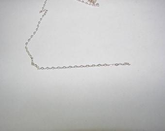 Very pretty chain in 925 sterling silver diamond mesh 10 cm. (8364373)