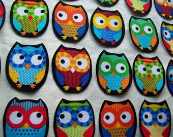 Chubby Fabric Iron On Owl Appliques