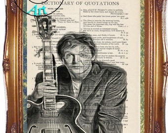 Paul McCartney Art - Vintage Dictionary Page Art Print Upcycled Book Page Art Collage Art Print