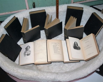 Now On Sale! Vintage 1899 Lot of 11 Louia Muhlbach Historical Novels!  Empress Josephine, Louia of Prussia, Goethe, Frederick the Great