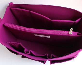 Extra Taller Purse organizer for Louis Vuitton Neverfull GM with Laptop compartment- Bag organizer insert