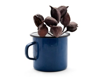 Enamel Mug, Cobalt Blue Enamel Coffee/Tea Cup, Rustic Farmhouse Decor, Vintage Blue Enamel Kitchenware, Retro Kitchen Decor, Camping Mug