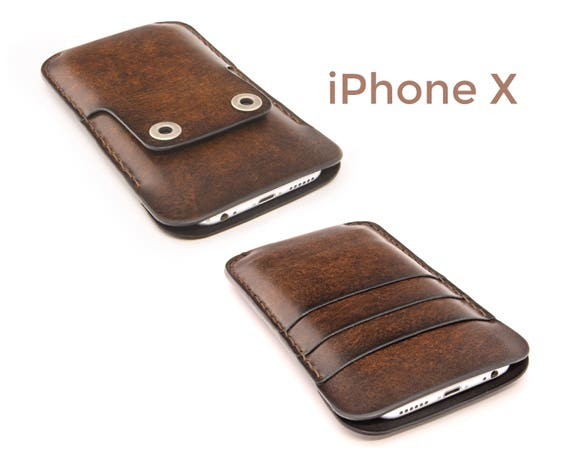 Mens Leather Iphone  Case