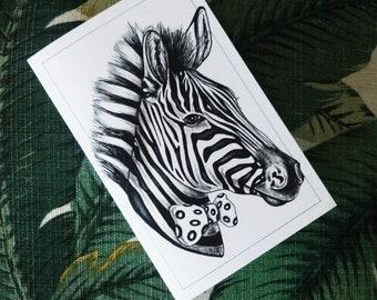 Zebra Folding Card