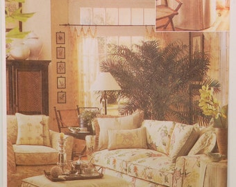 Butterick 6858 (c. 2001) Butterick Waverly Slipcover Sewing Pattern, Sofa Slipcover, Chair Slipcover, Ottoman, Table Topper, Home Deocr