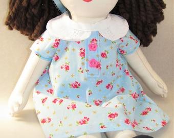 Cassandra - 16 in. Handmade Rag Doll