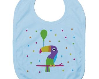 Funny Baby Bibs for Baby Boy Baby Girl Dribble Bib Feeding Bib Circus Toucan Baby Gift