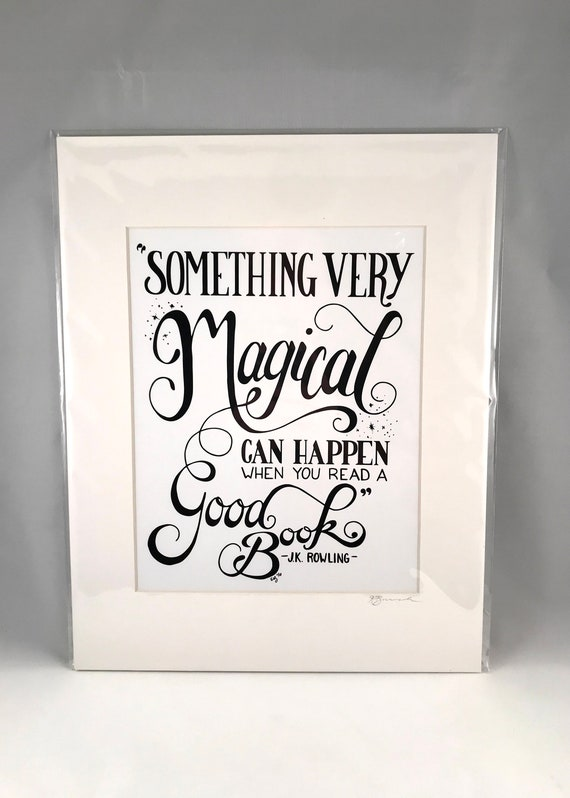 Hand Drawn JK Rowling Print | Hand Written Quote Signs | Home Decor | Gifts for the Home | Gift for Mom | Gift for Co Worker
