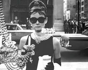 Breakfast At Tiffany's Audrey Hepburn poster 24 x 36