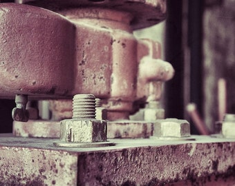 Industrial Artwork, Machinery Photograph, Industrial Wall Decor
