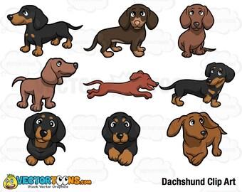 dachshund clipart etsy rh etsy com dachshund clipart black and white dachshund clipart black and white
