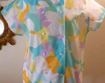 YVES DAINCOURT designer 1980's blouse