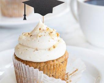 Grad cap cupcake topper, graduation party decorations, graduation cupcake toppers, grad 2018, graduation party, grad decorations