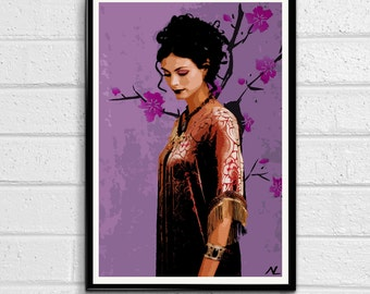 Firefly Inara Pop Art Print Poster Canvas