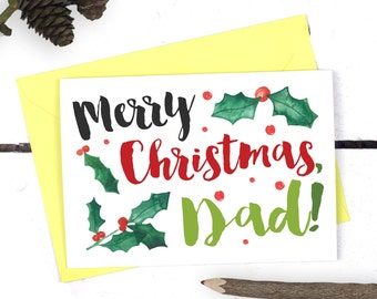christmas card for dad merry christmas dad dad christmas card gift for dad