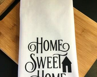 Home Sweet Home kitchen towel, tea towel, kitchen towels, kitchen decor