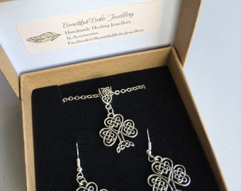 Celtic Tree of Life earring and necklace set
