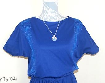 Retro Navy evening dress 1980s-90s/ Vintage dress, Pretty dress