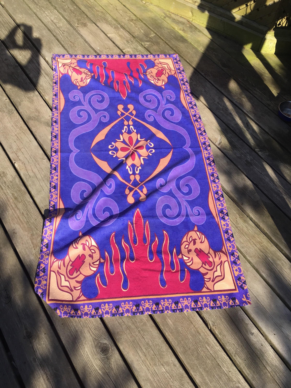 Aladdin Magic Carpet Beach Towel for Aladdin Carpet Design  83fiz