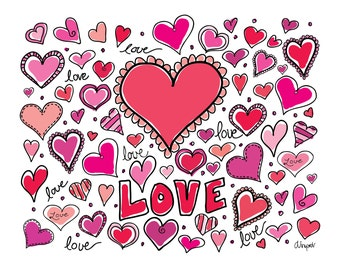 Hearts and Love Design