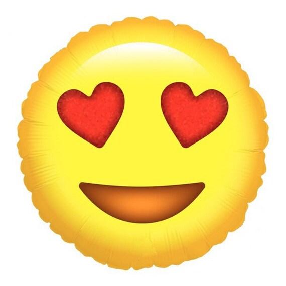 Liebe Emoji Ballon. Sprechblase Besessen. Emoji Ballons