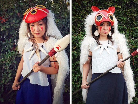 sc 1 st  Etsy & Princess Mononoke COMPLETE SET Costume Cosplay Full or Half