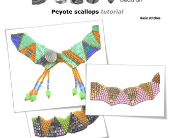 """Peyote scallops bead stitch tutorial and instructions with graph"""" Instant Downloadable Pattern PDF File"""